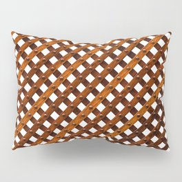 Symmetrical wooden pattern Pillow Sham