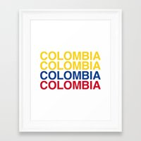 colombia Framed Art Prints featuring COLOMBIA by eyesblau