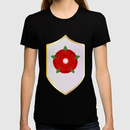 Lancastrian Red Rose Shield T-shirt