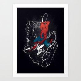 Spider-Man vs. Venom Art Print