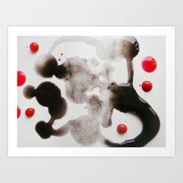 Paint Blots 7 Art Print