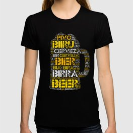 Beer In Different Languages T-Shirt T-shirt