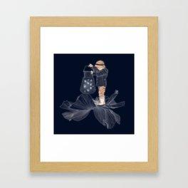 Whimsical print , art for boys room , quirky art , fireflies print poster Framed Art Print