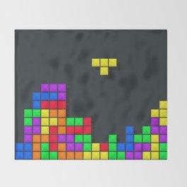 Tetris print design Throw Blanket