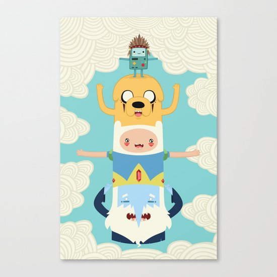 Adventure Totem Canvas Print