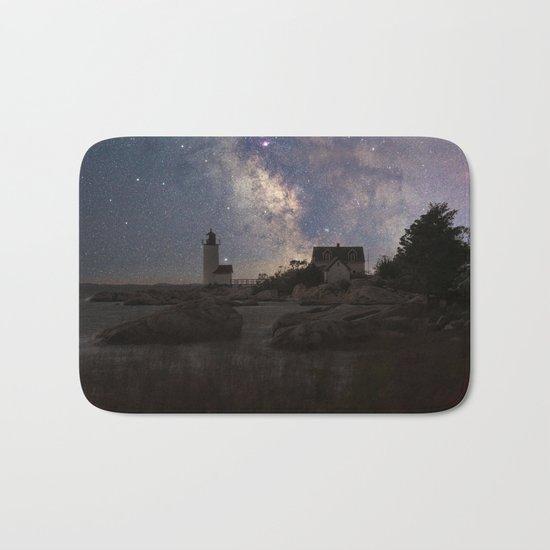 Photoart Lighthouse under the stars Bath Mat