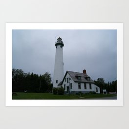 Life in the lighthouse Art Print