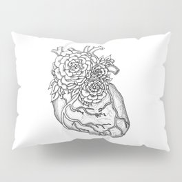 Flower heart anatomy with Love Pillow Sham