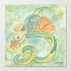 Flower Mermaid Canvas Print