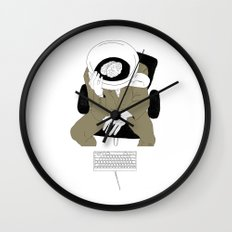 MORNING COFFEE IN THE OFFICE Wall Clock