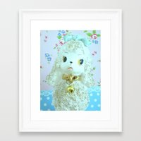 poodle Framed Art Prints featuring Poodle by Vintage  Cuteness