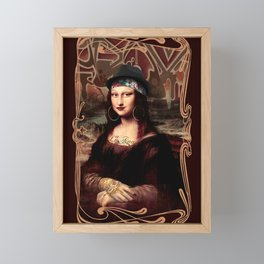 Chicana Mona Lisa Framed Mini Art Print