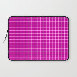 Magenta with White Grid Laptop Sleeve