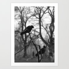 Graveyard Birds Art Print