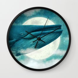 Dream of The Blue Whale Wall Clock