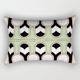 Vintage Mint Green Assyrian Pattern with a hint of Art Deco Rectangular Pillow