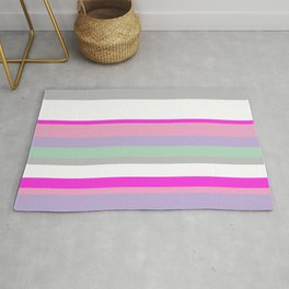 Light Stripes and Borders Rug