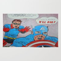 bucky Area & Throw Rugs featuring Captain Amerika: The Day Bucky Saved the Shield by Kellee Byard