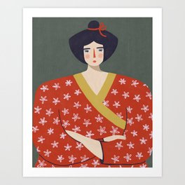 Geisha lady Art Print