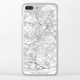 Stuttgart Map White Clear iPhone Case