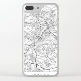 Stuttgart Map White Clear iPhone Case