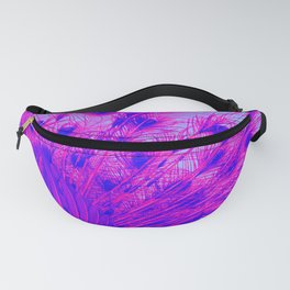 Peacock from behind Fanny Pack