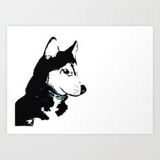 Siberian Husky Dog Art Art Print
