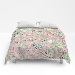 Fayetteville North Carolina Map (1997) Comforters