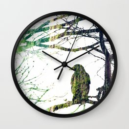 Forest Raven Wall Clock