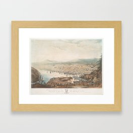 Vintage Pictorial Map of St Johns Newfoundland (1831) Framed Art Print