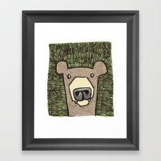 dack the bear Framed Art Print