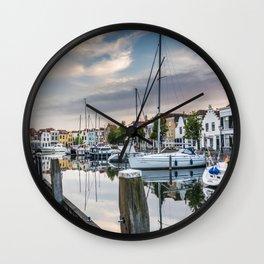 Dutch harbour Wall Clock