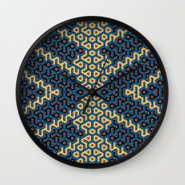 Squiggle Trails Most Awesome Yellow Red Blue and Black Wall Clock