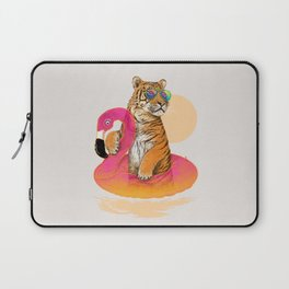 Chillin (Flamingo Tiger) Laptop Sleeve