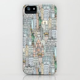 New York watercolor iPhone Case