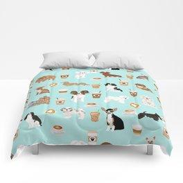Coffee Dogs cute miniature dog breeds chihuahua bichon terrier Shih tzu pomeranian latte coffees Comforters