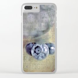 Blueberry Art Clear iPhone Case