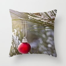Christmas is here Throw Pillow