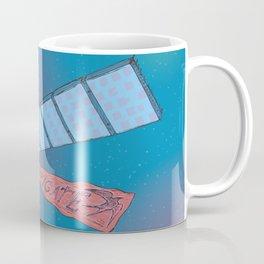 Satellite Frigate in space. Coffee Mug