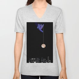 Moon Yo-yo Unisex V-Neck