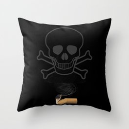 Smoking Kills CIgarette Throw Pillow