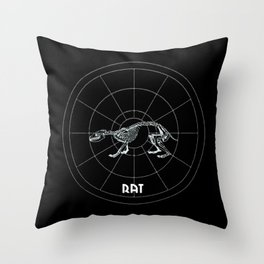 Rat Animal Totem Throw Pillow