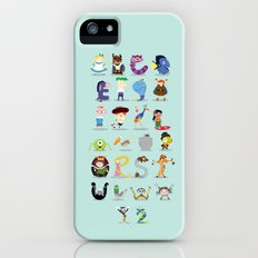 Animated characters abc iPhone (5, 5s) Slim Case
