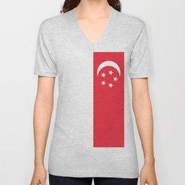 Flag of Singapore Unisex V-Neck