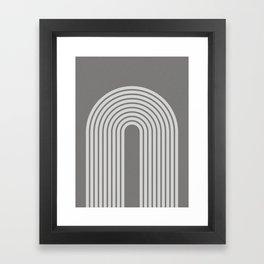 Grey Retro Rainbow Framed Art Print