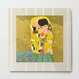 The Kiss (Lovers) by Gustav Klimt  Metal Print