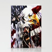 patriotic Stationery Cards featuring PATRIOTIC TIMES by PERRY DAEZIOUH