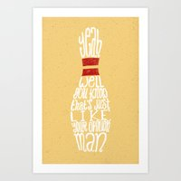 the big lebowski Art Prints featuring The Big Lebowski by Drew Wallace