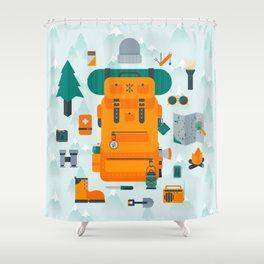 Adventuring Shower Curtain