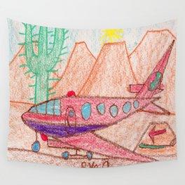 Desert Runway Wall Tapestry
